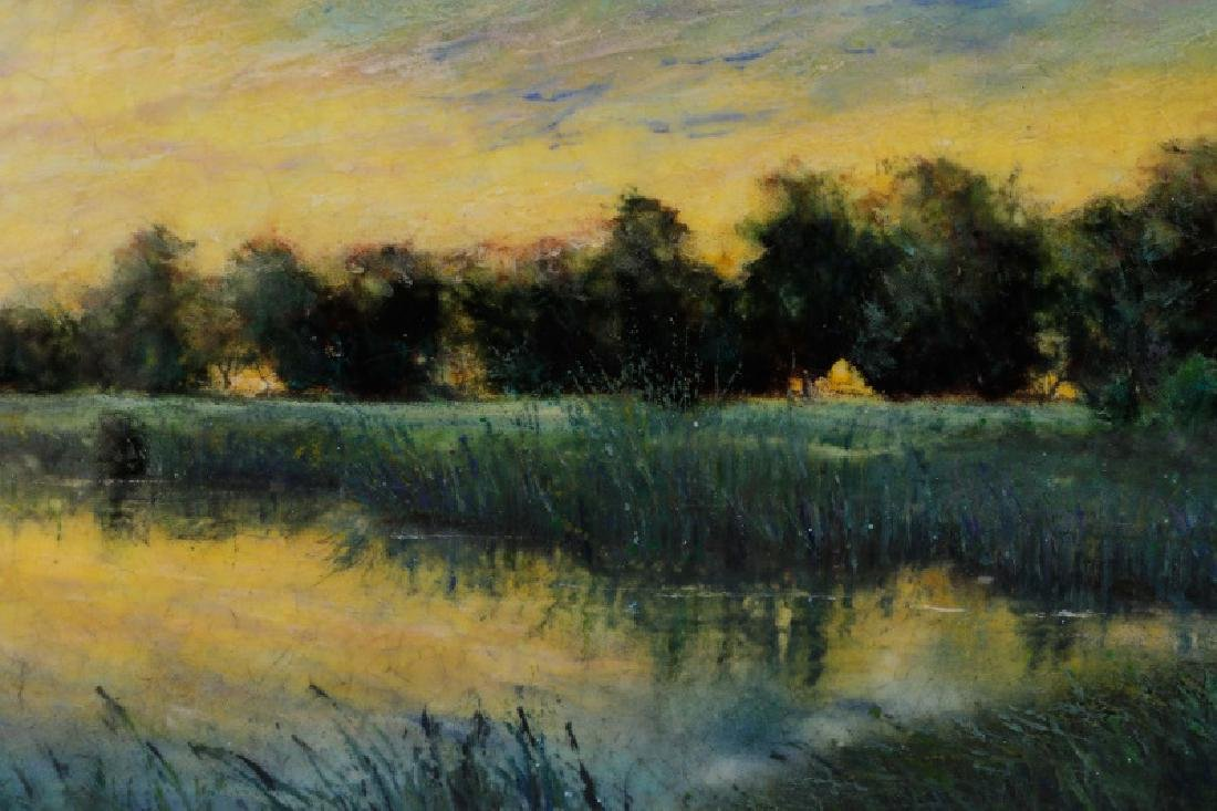 "Steven Stelz, ""Tonal Landscape"", Painting on Glass - 2"