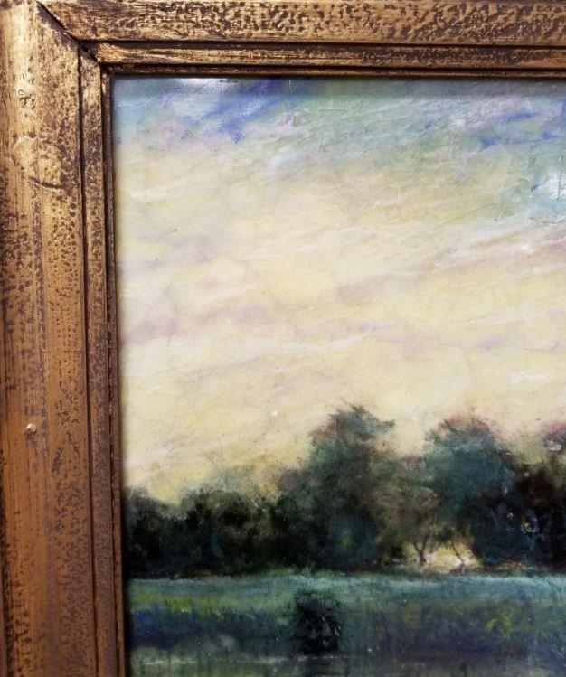 "Steven Stelz, ""Tonal Landscape"", Painting on Glass - 6"