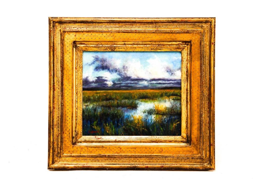 """Steven Stelz, """"The Marshes"""", Painting in Glass"""