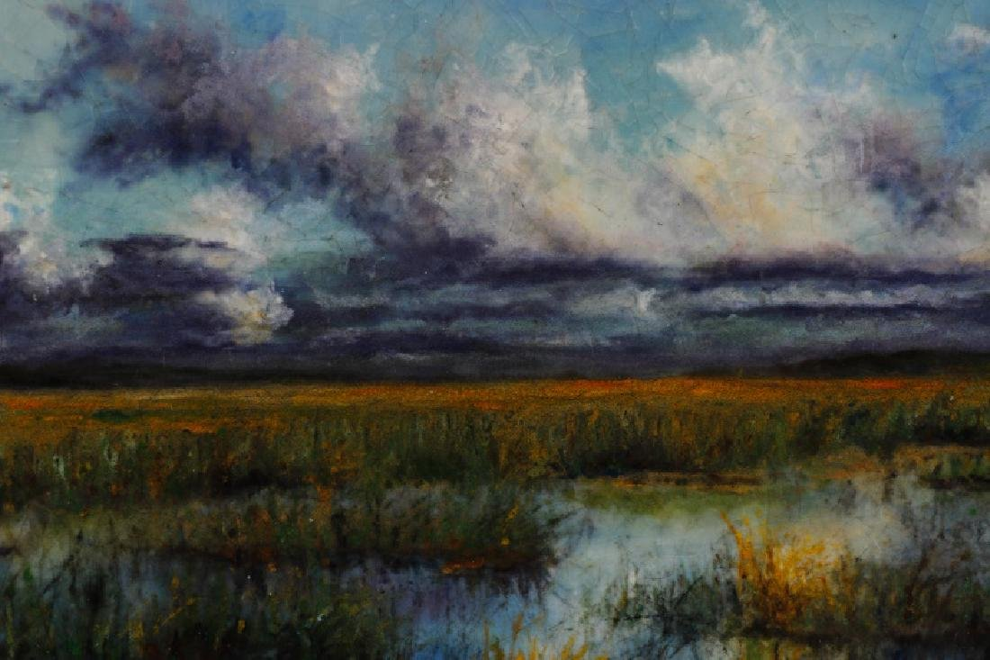 "Steven Stelz, ""The Marshes"", Painting in Glass - 3"
