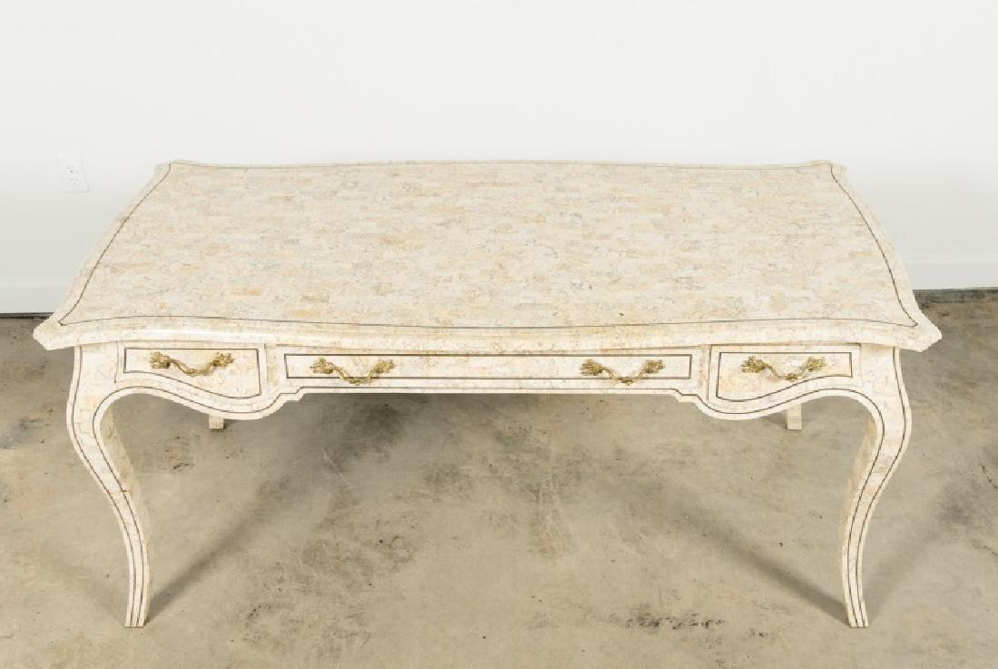 Maitland-Smith Tessellated Stone Writing Desk