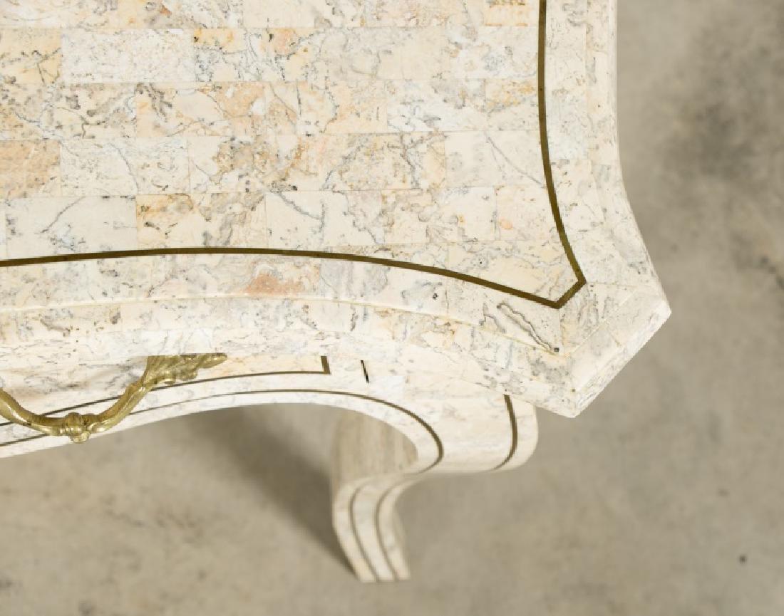 Maitland-Smith Tessellated Stone Writing Desk - 4