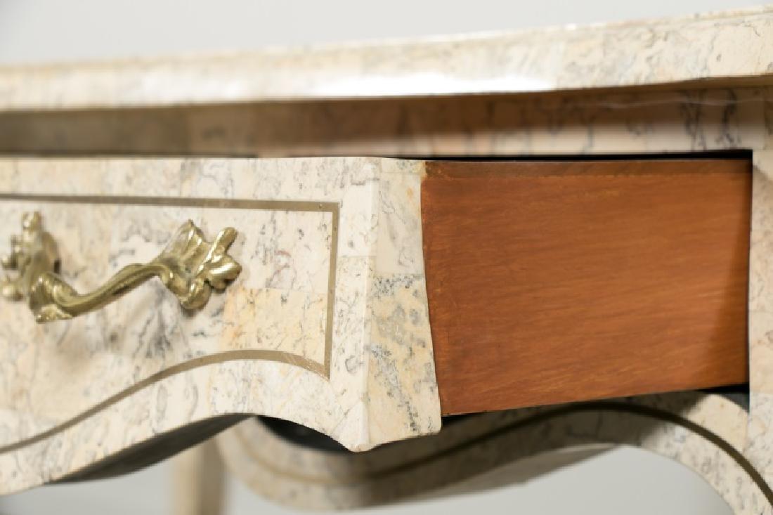 Maitland-Smith Tessellated Stone Writing Desk - 5