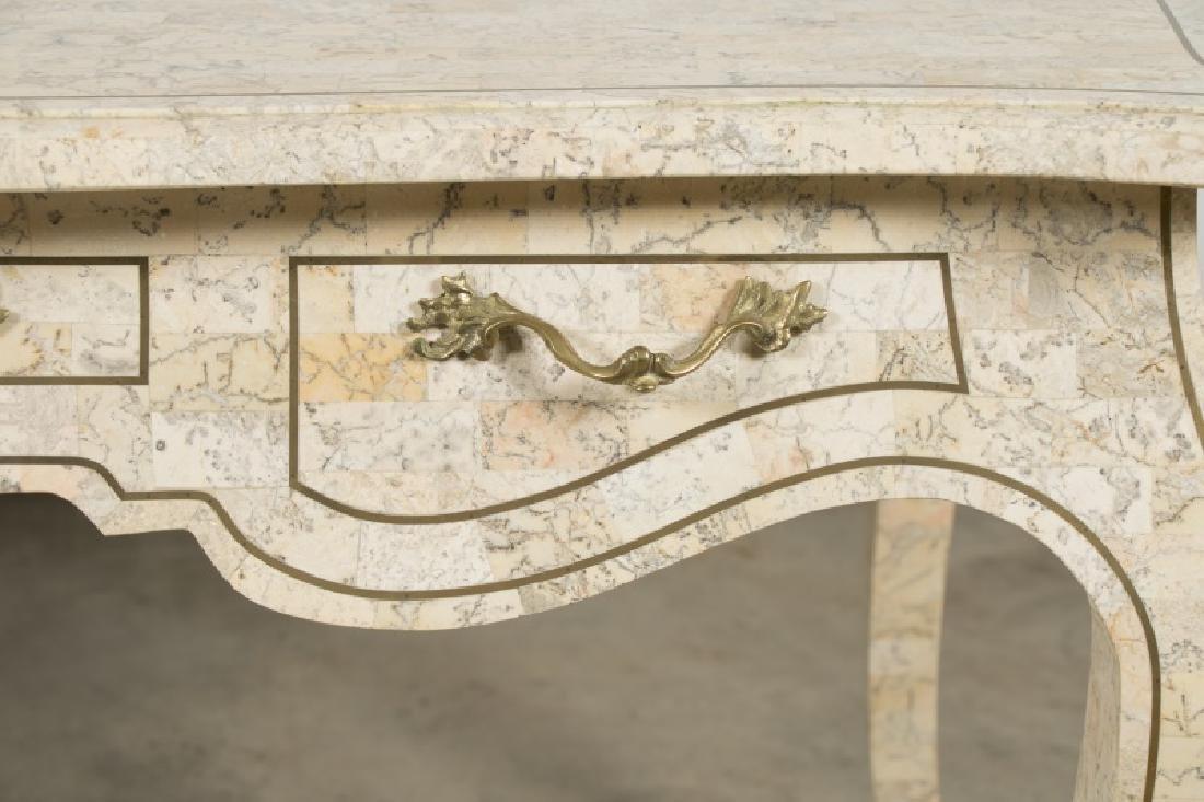 Maitland-Smith Tessellated Stone Writing Desk - 8