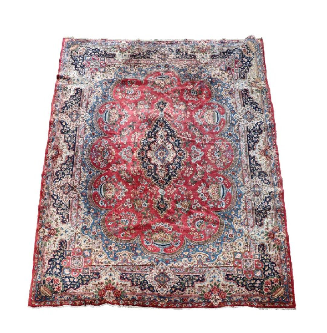 """Hand Woven Persian Room Size Rug, 13' x 9' 9"""""""
