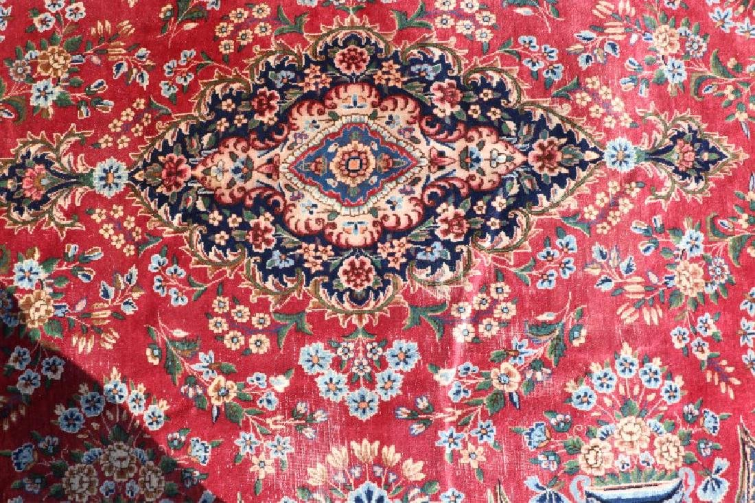 """Hand Woven Persian Room Size Rug, 13' x 9' 9"""" - 4"""