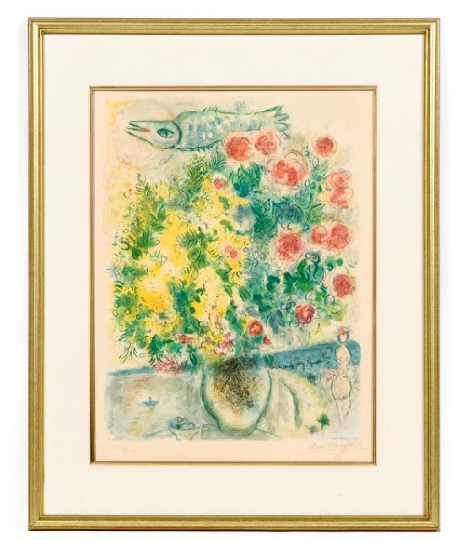 "Chagall ""Roses et Mimosas"" Sorlier Ed. Litho 69/75"