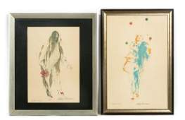 Two LeRoy Neiman Signed AP Prints Juggler  Clown