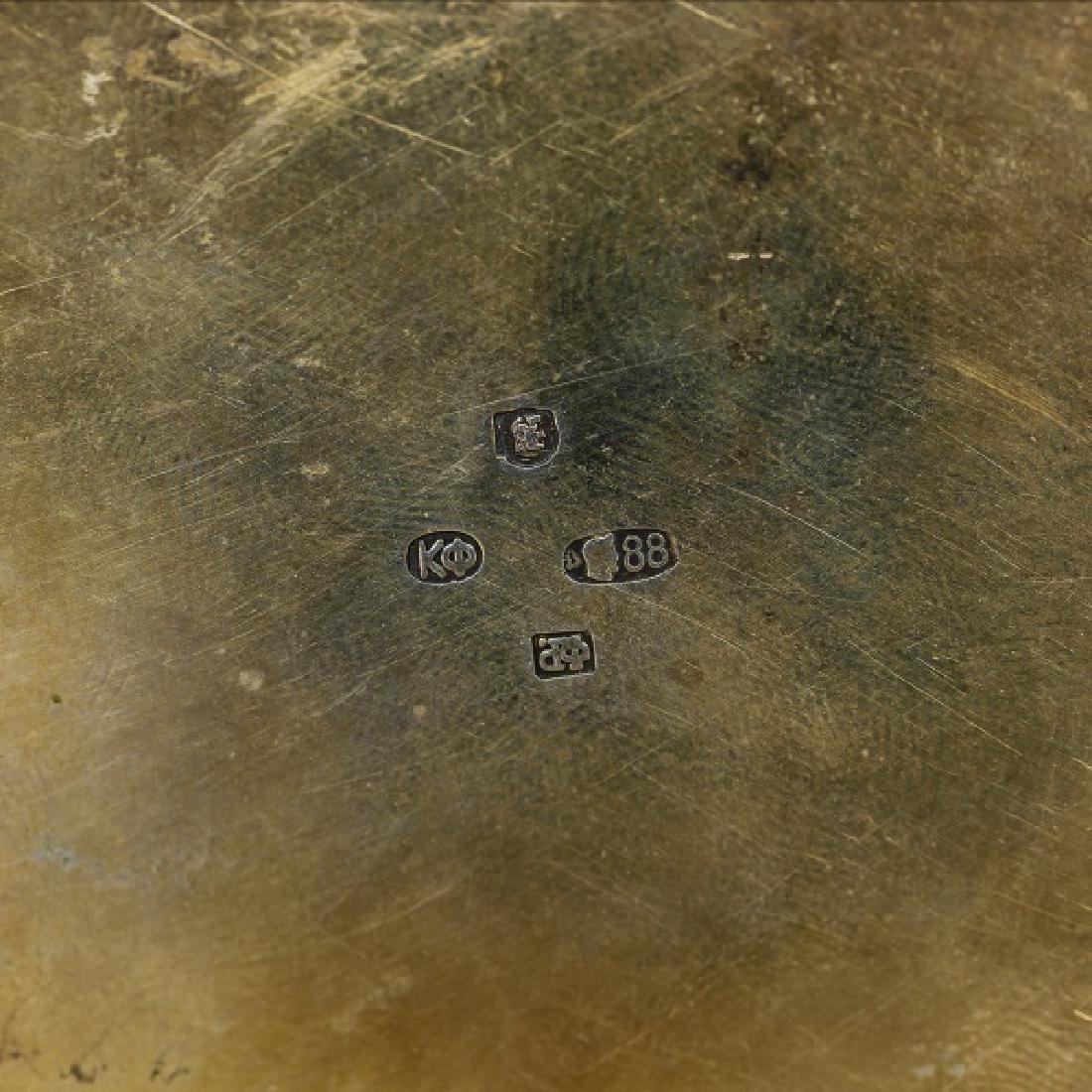 Faberge Silver Gilt Enamel Box, Feodor Ruckert - 7