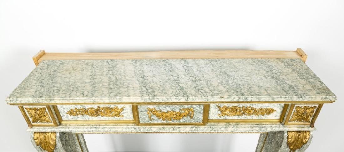 Fine Gilt Bronze & Marble Fireplace Surround - 4