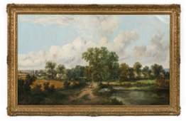 George Vicat Cole Signed 1866 English Landscape