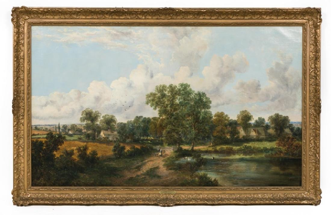 George Vicat Cole Signed 1866 English Landscape