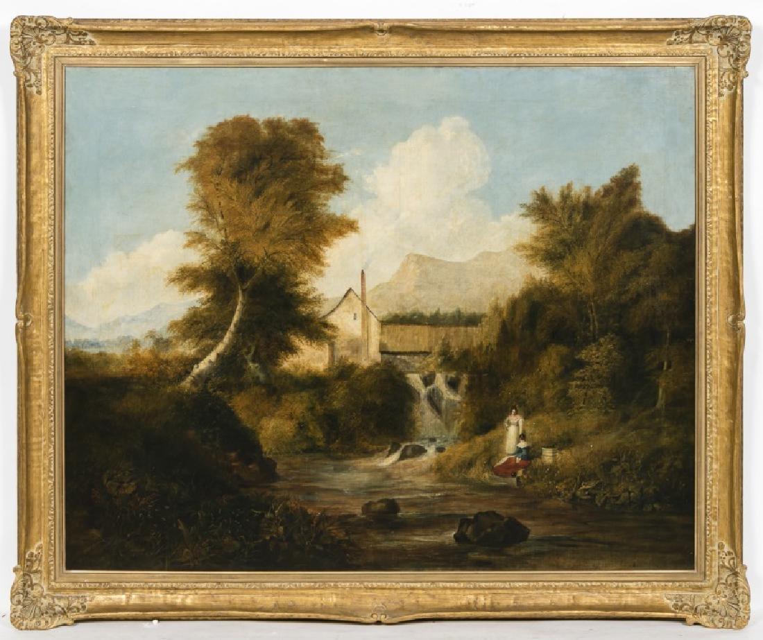 Fine Large 18th C. Belgian Pastoral Genre Scene