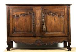 19th C. French Provincial Carved Walnut Buffet