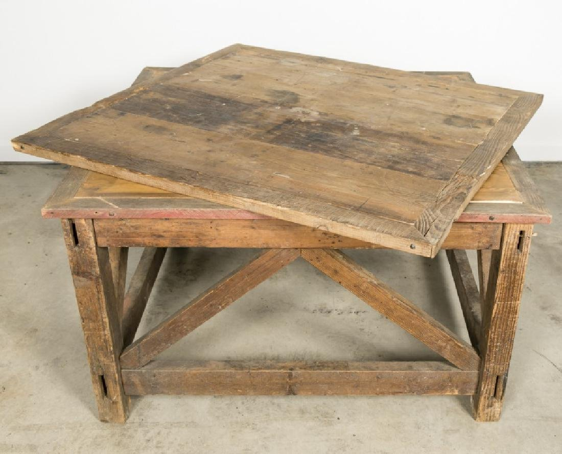 French, Early 20th C. Sculptor's Atelier Table