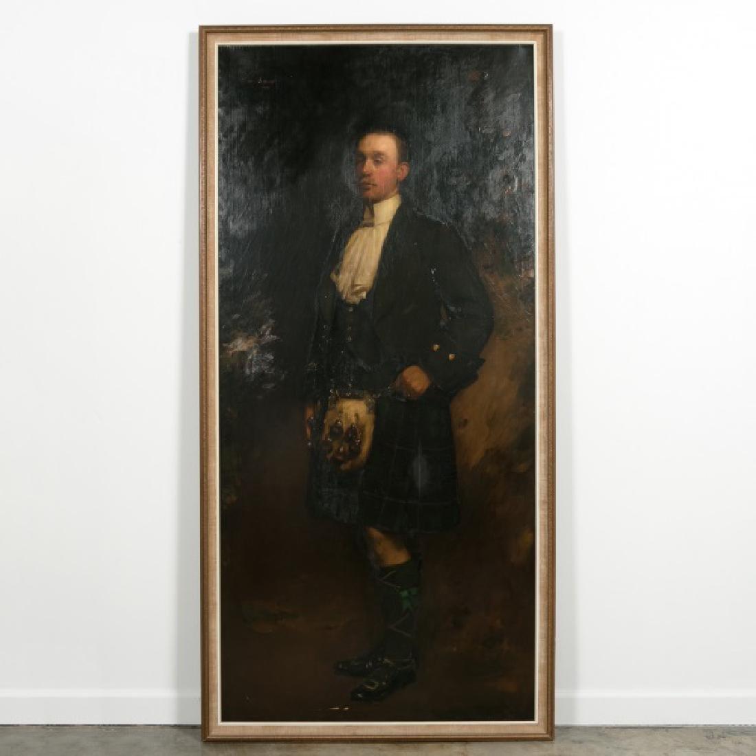 Life-Size Portrait of a Scotsman, Signed, c. 1920s