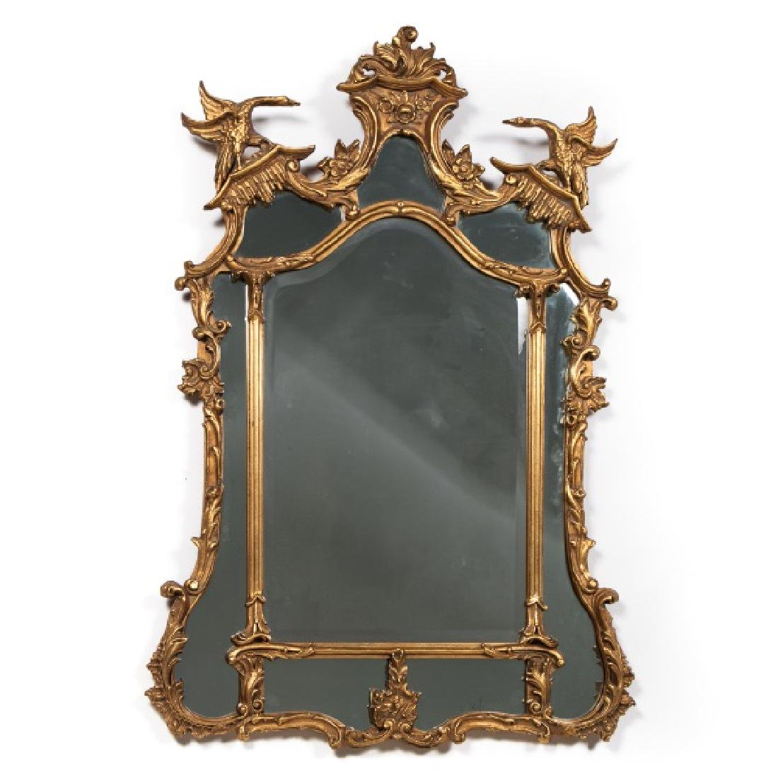 Chinese Chippendale Style Giltwood Pier Mirror