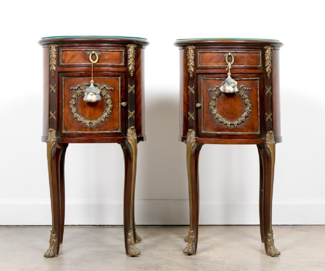 Pair, Directoire Style Mahogany Side Tables
