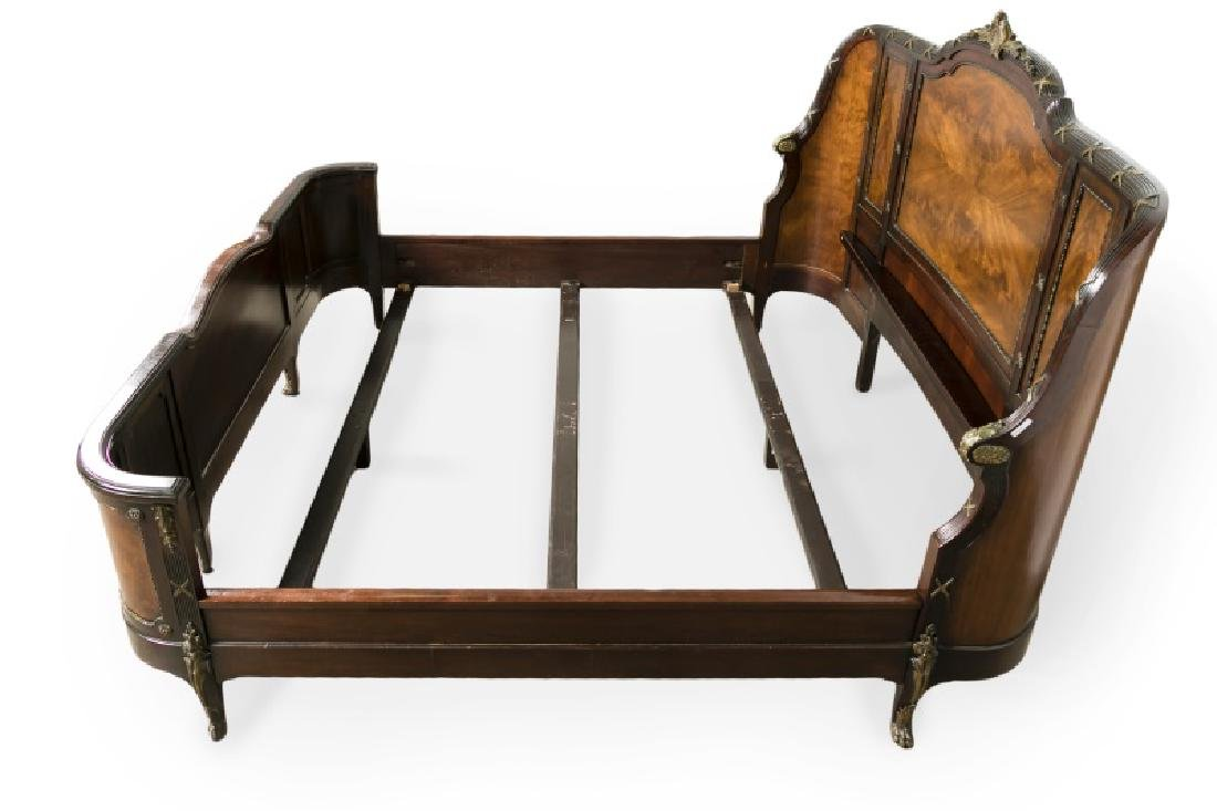 Directoire Style Ormolu Mounted Mahogany Bed - 3