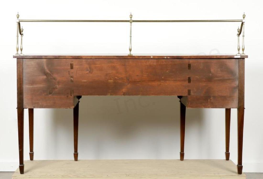 Mahogany Serpentine Sideboard w/ Brass Gallery - 3