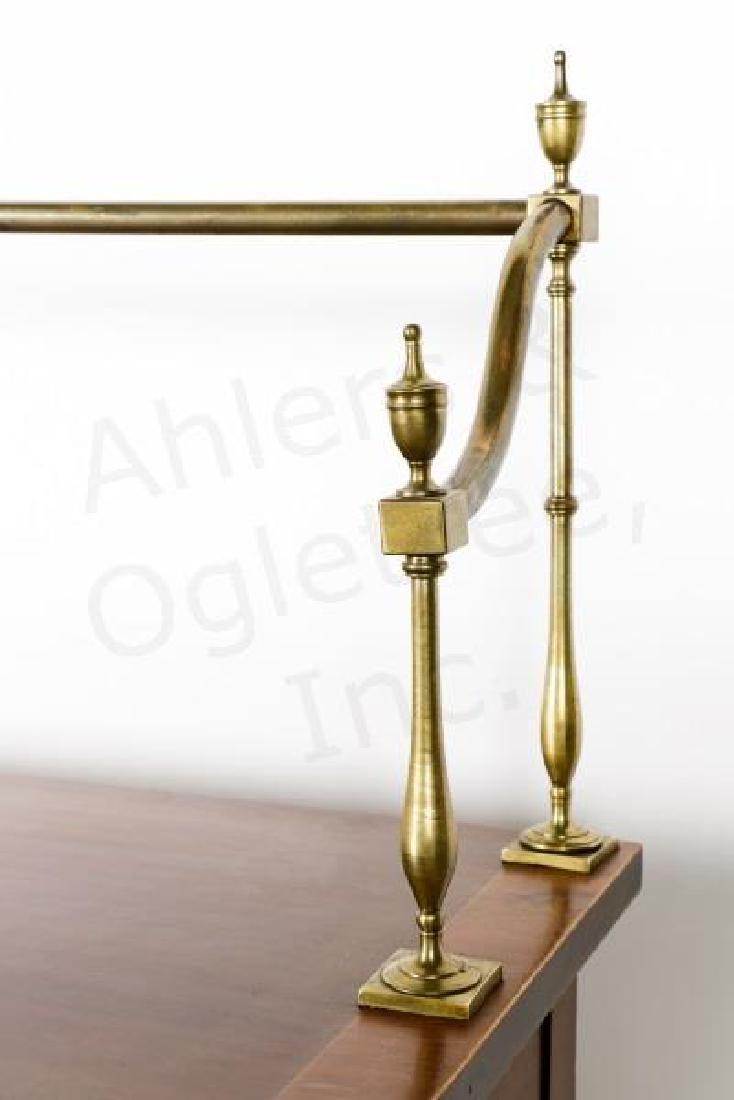 Mahogany Serpentine Sideboard w/ Brass Gallery - 5