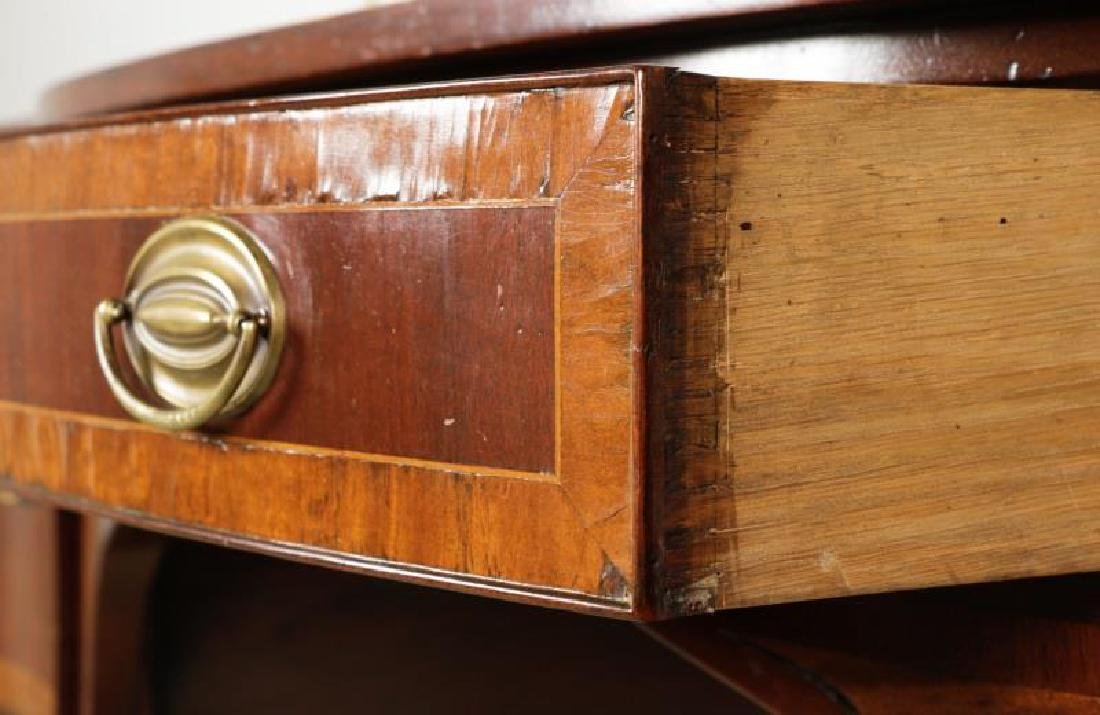 Mahogany Serpentine Sideboard w/ Brass Gallery - 7