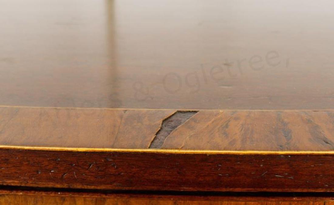 Mahogany Serpentine Sideboard w/ Brass Gallery - 8