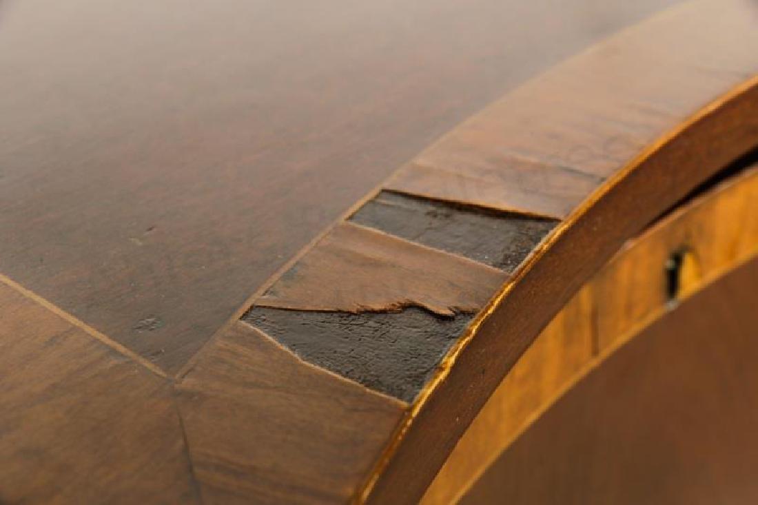 Mahogany Serpentine Sideboard w/ Brass Gallery - 9