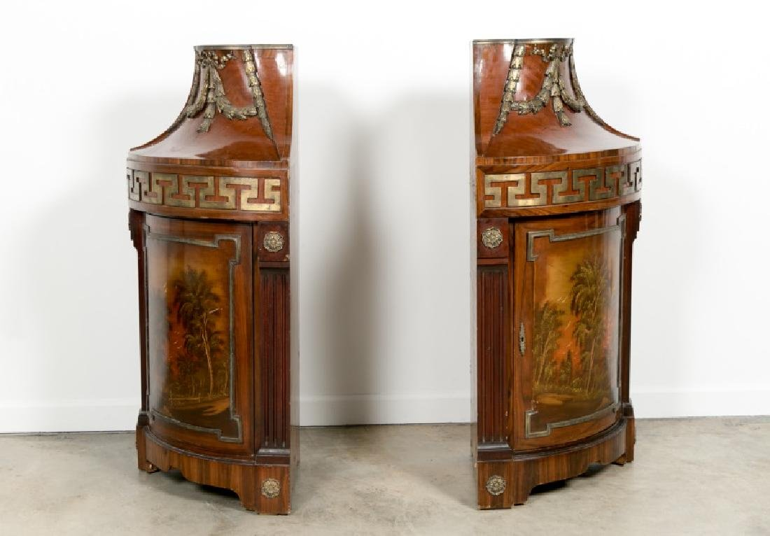 Pair of Continental Rosewood Corner Cabinets - 3
