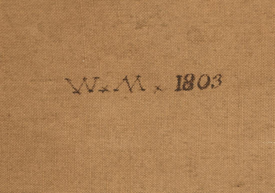 Signed 1803 American School Landscape O/C - 5
