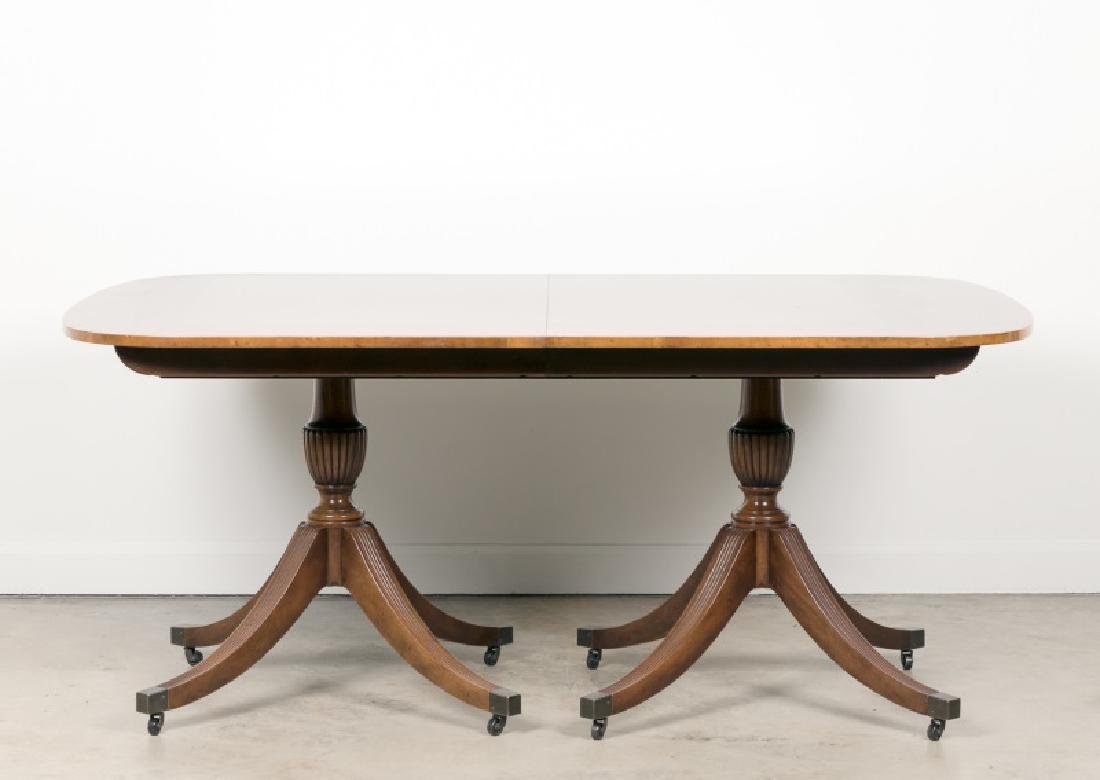 Baker Mahogany Double Pedestal Dining Table