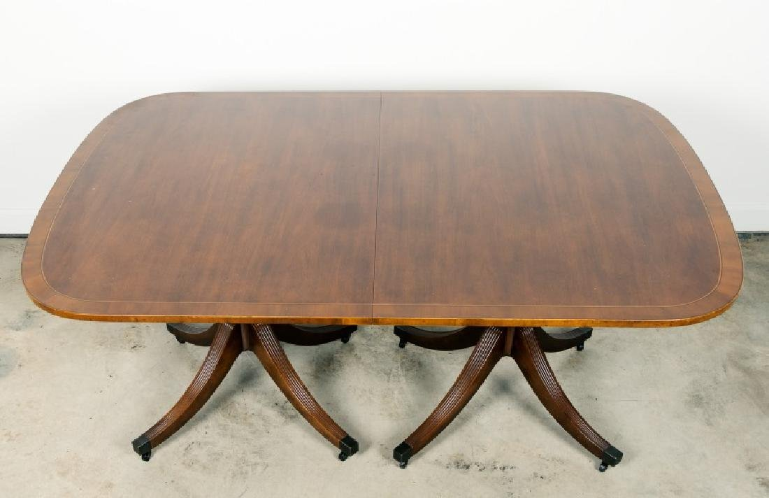 Baker Mahogany Double Pedestal Dining Table - 2