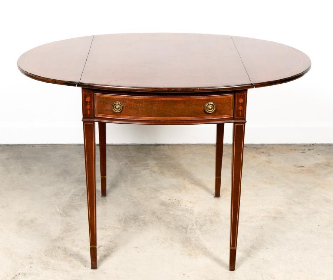 19th C. Oval Mahogany Pembroke Table