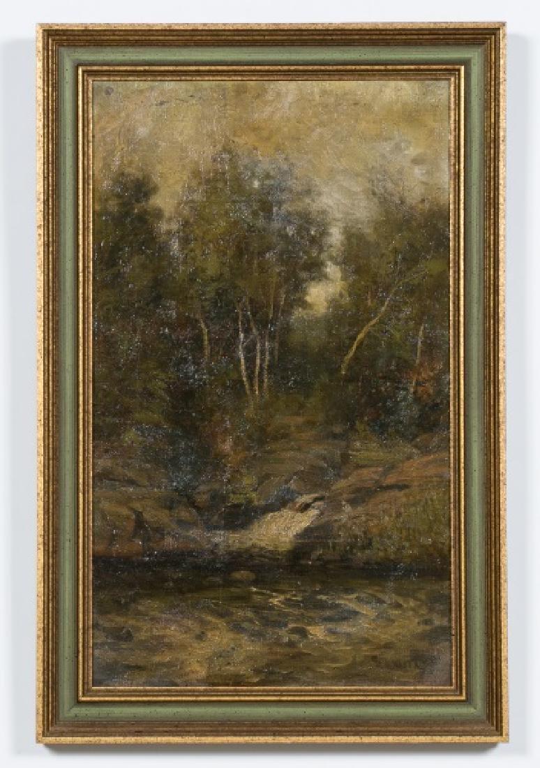"Oits Weber, ""Trout Brook"" Forest Landscape, O/C."