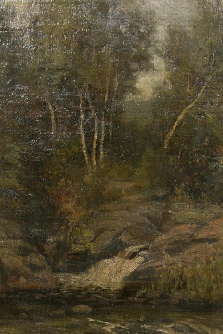 "Oits Weber, ""Trout Brook"" Forest Landscape, O/C. - 3"