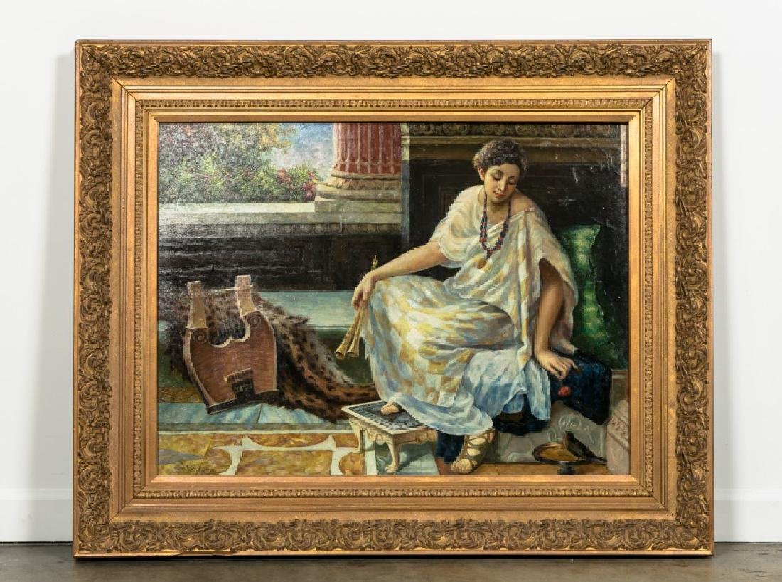 L.J. Phillps Jr. Interior & Seated Woman with Lyre