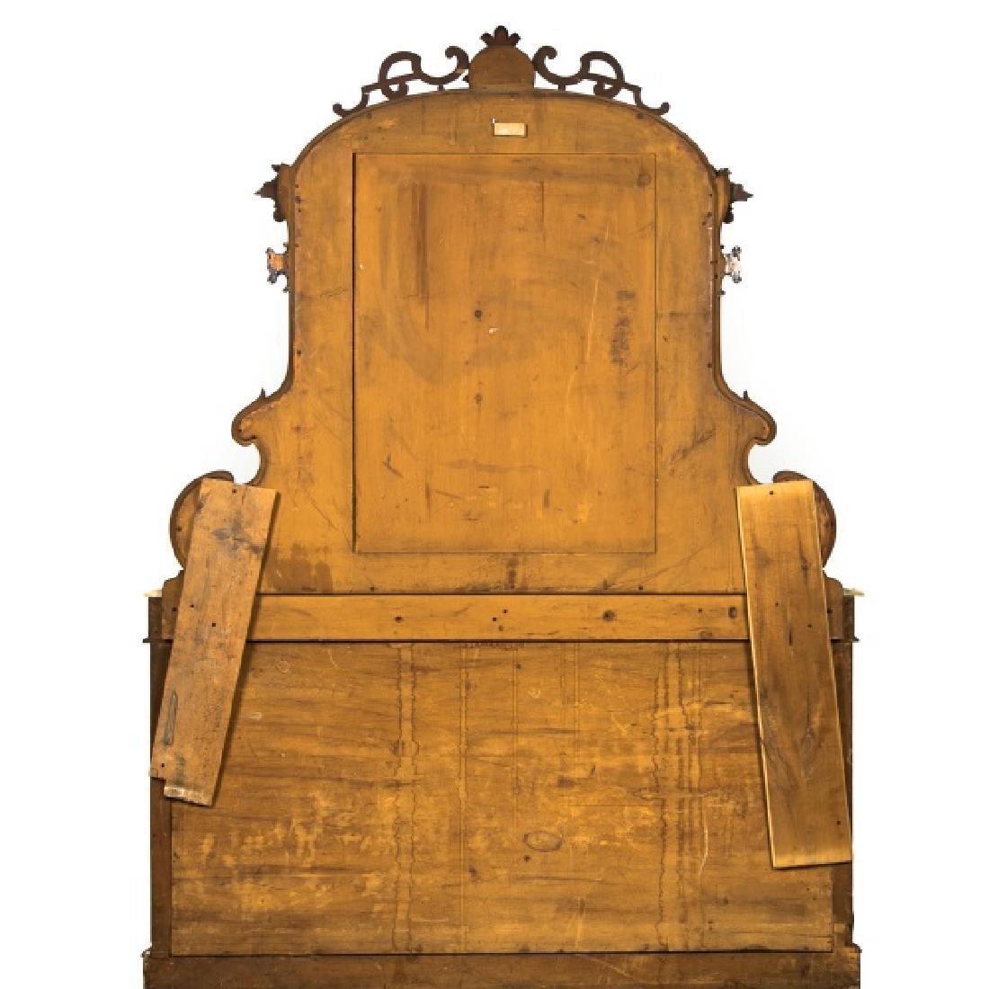 19th Century Burled Mahogany & Marble Sideboard - 2