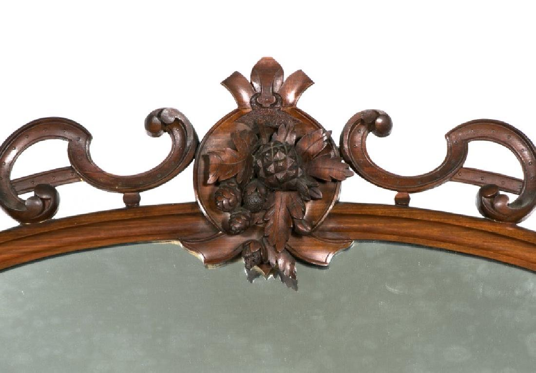 19th Century Burled Mahogany & Marble Sideboard - 5