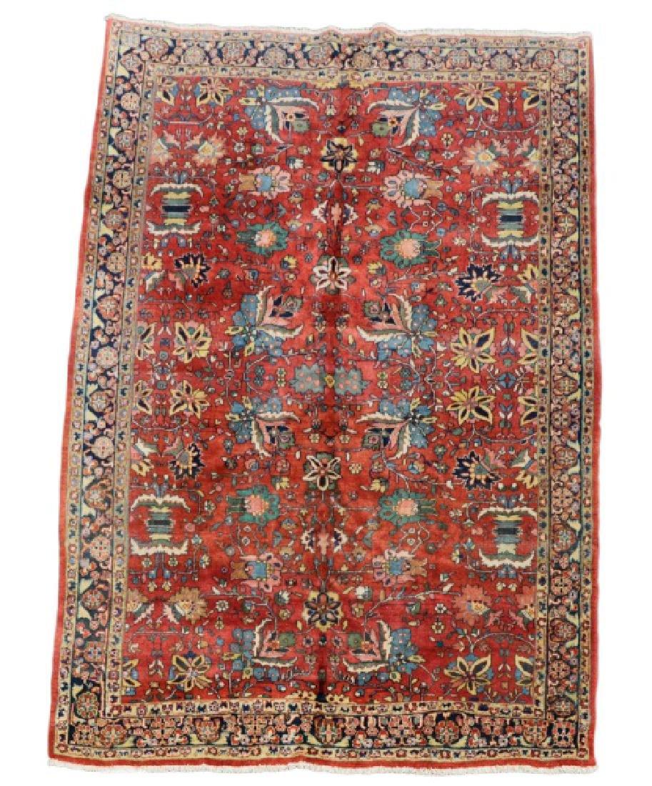 "Hand Woven Persian Mahal Area Rug, 7' 8"" x 10' 2"""