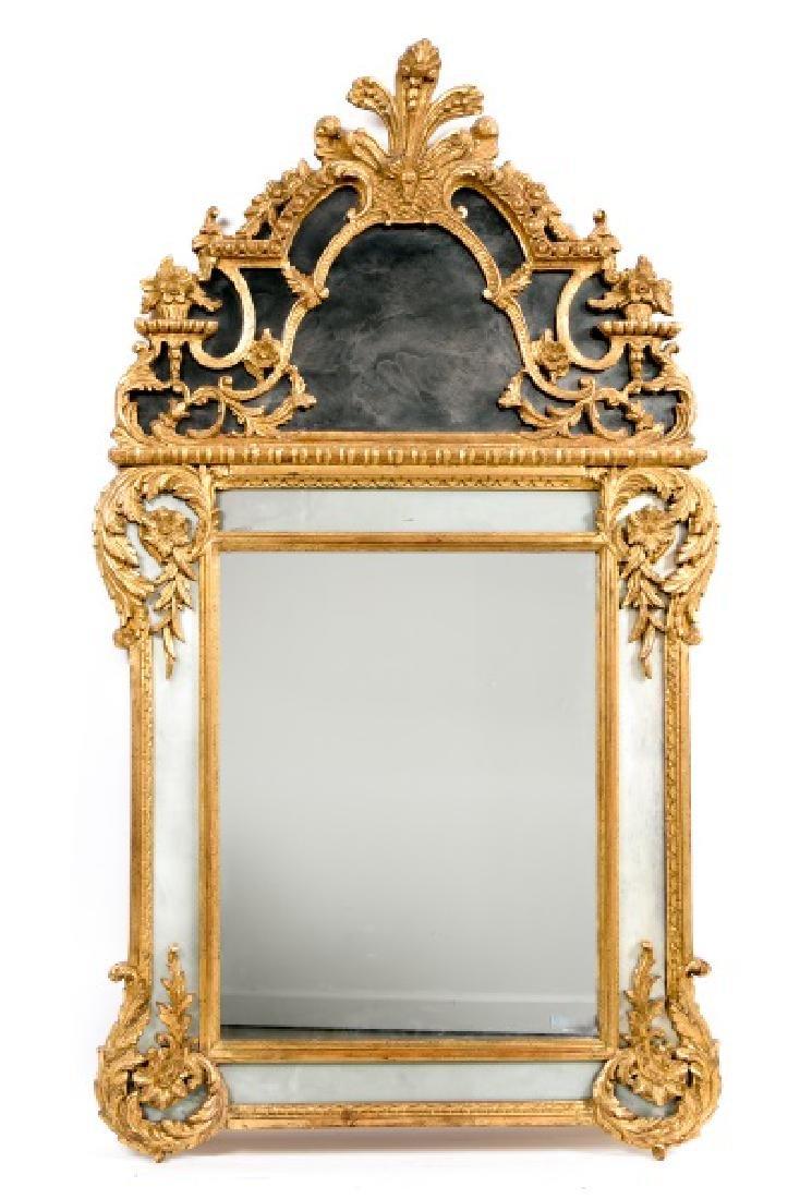 Louis XVI Style Giltwood Cushion Mirror