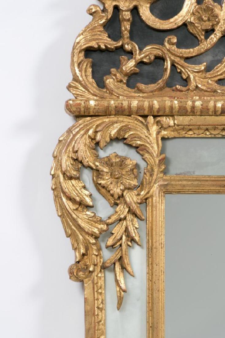 Louis XVI Style Giltwood Cushion Mirror - 5