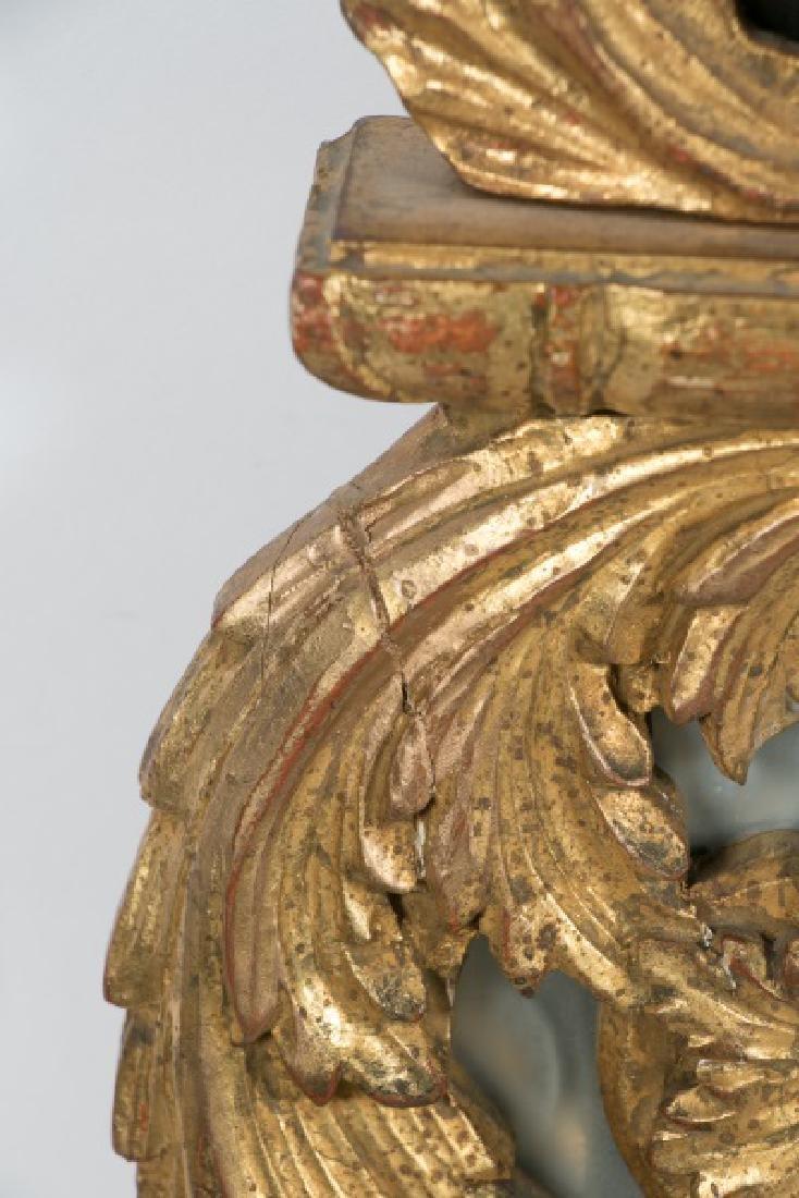 Louis XVI Style Giltwood Cushion Mirror - 7