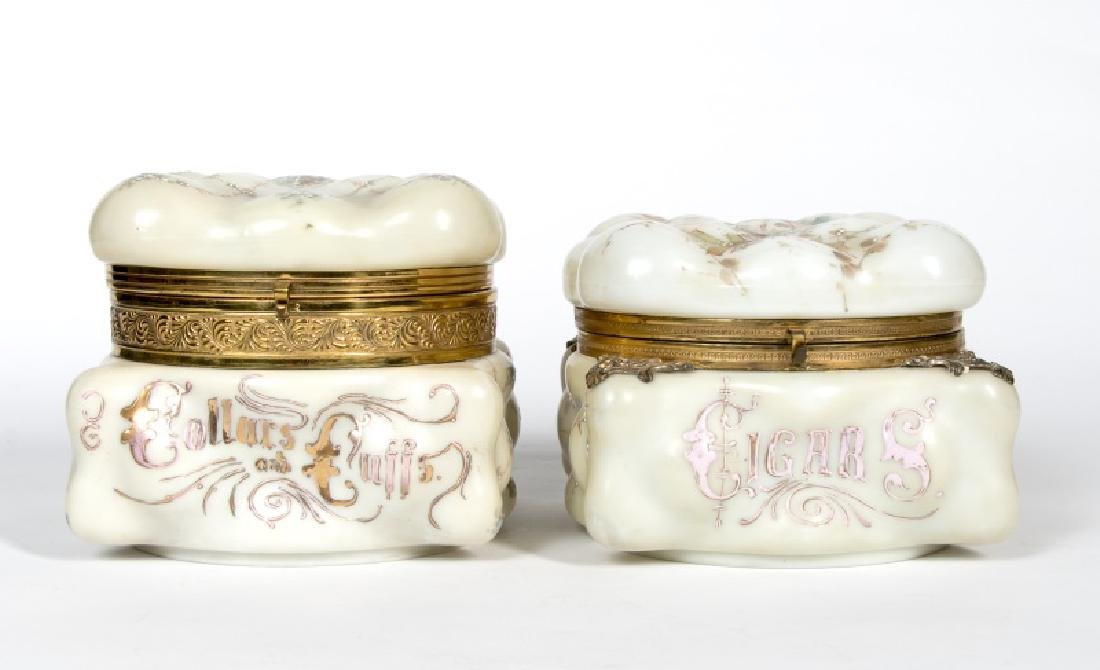 Two Large Wavecrest Lidded Boxes, Marked