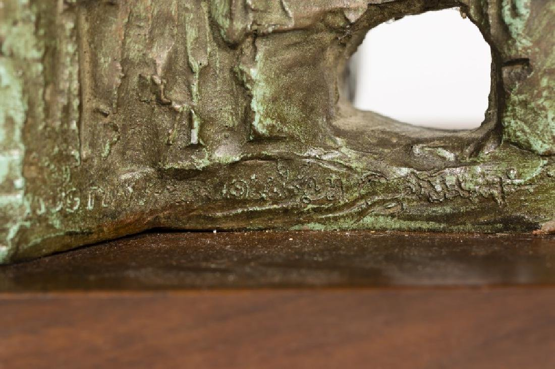 20th C. Multi-Figural Sculpture on Rosewood Base - 4