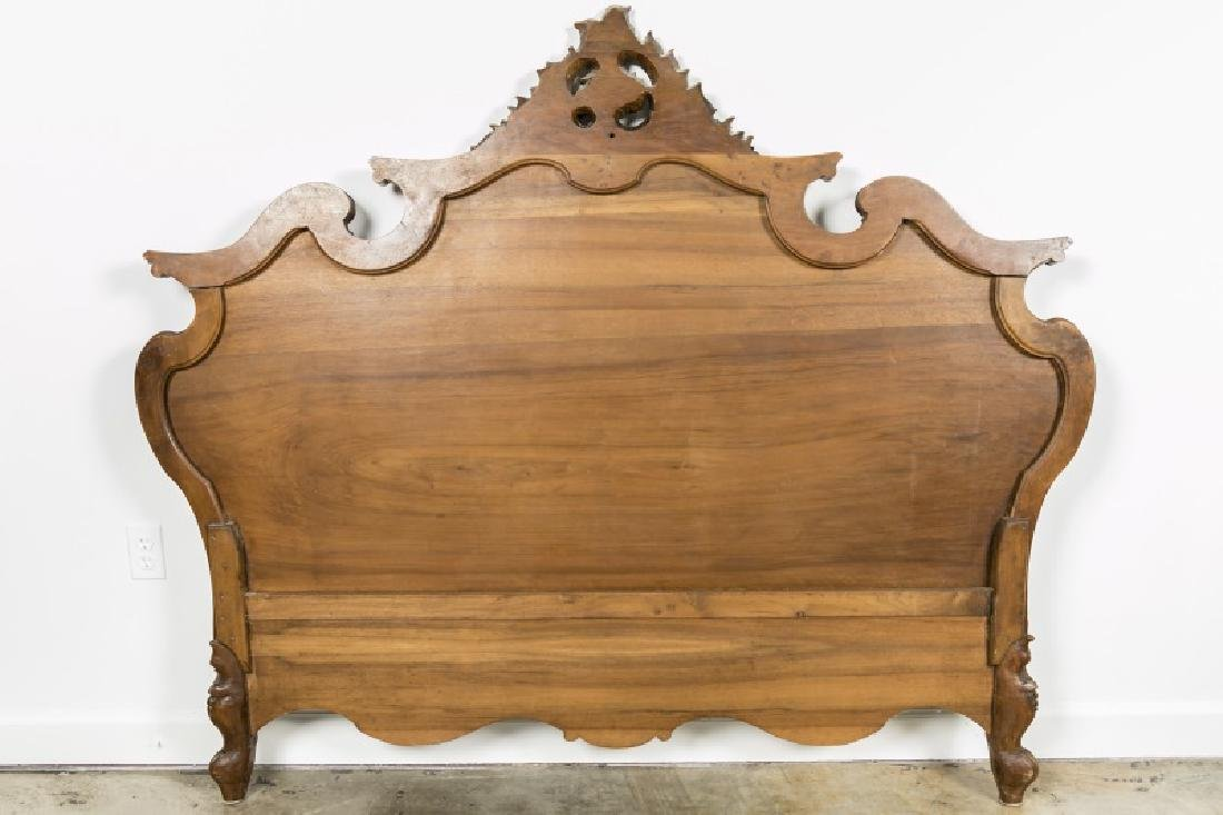 19th Century Rococo Ornately Carved Bed Frame - 3