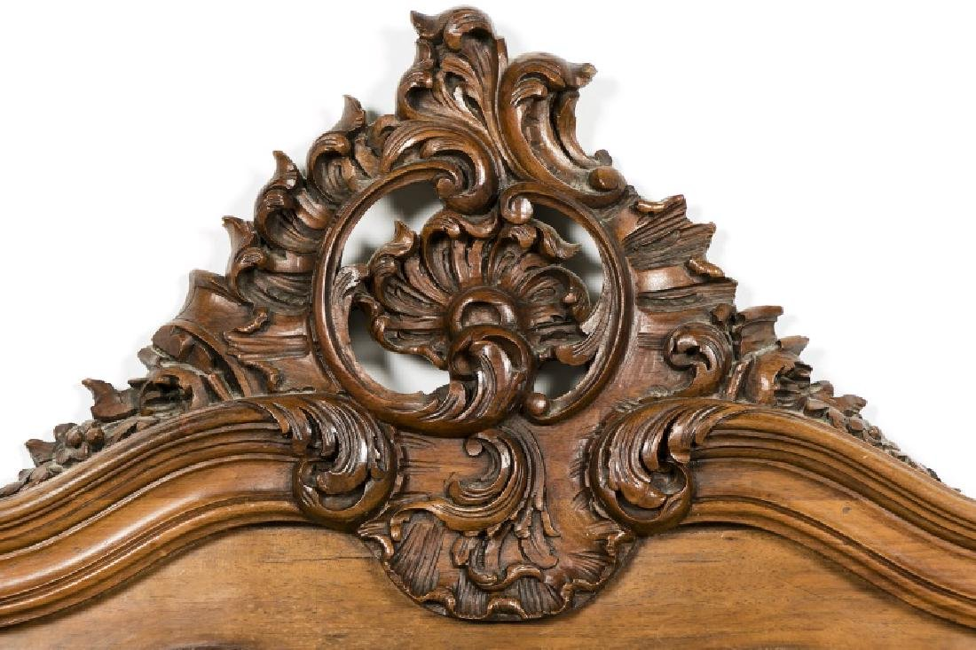19th Century Rococo Ornately Carved Bed Frame - 4