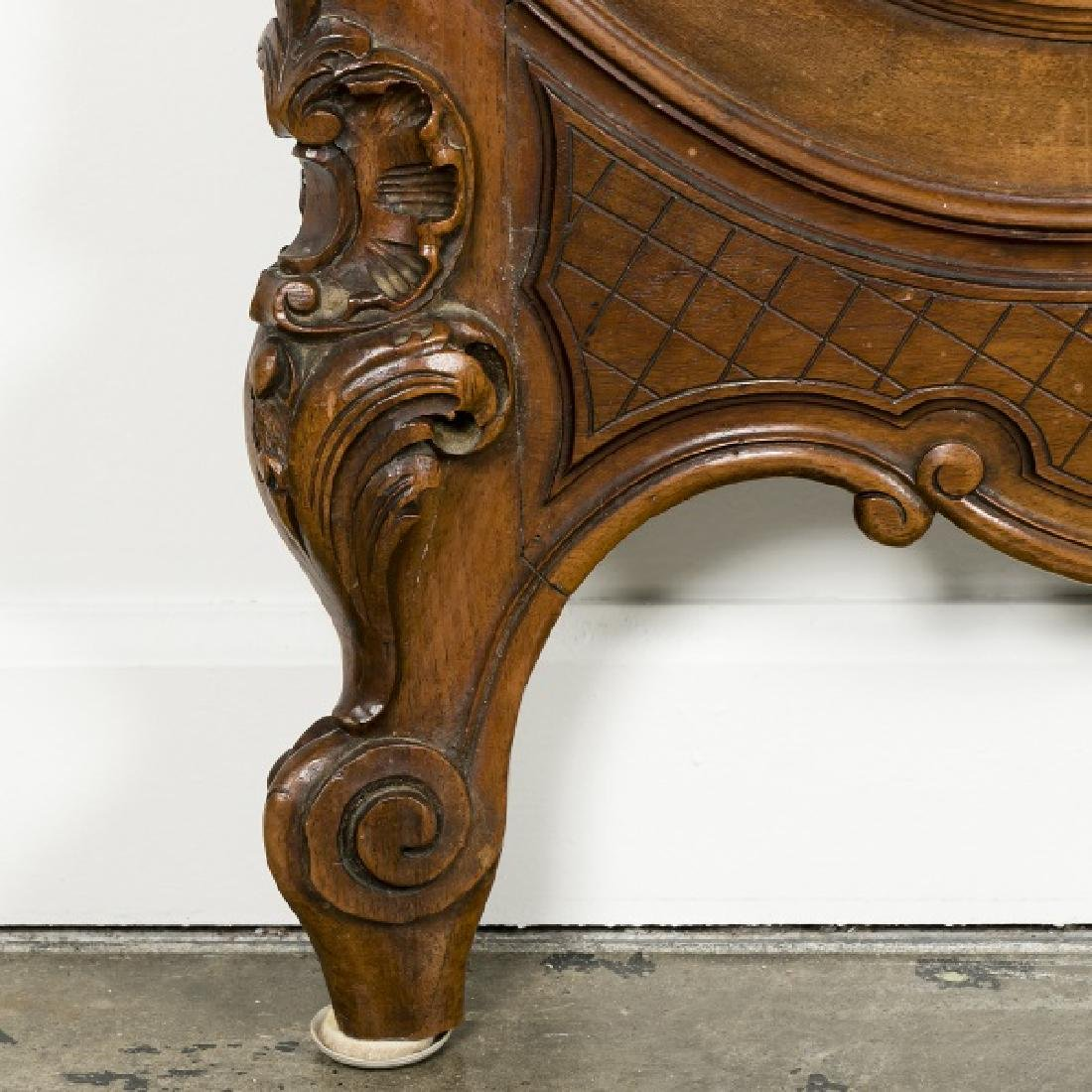 19th Century Rococo Ornately Carved Bed Frame - 9