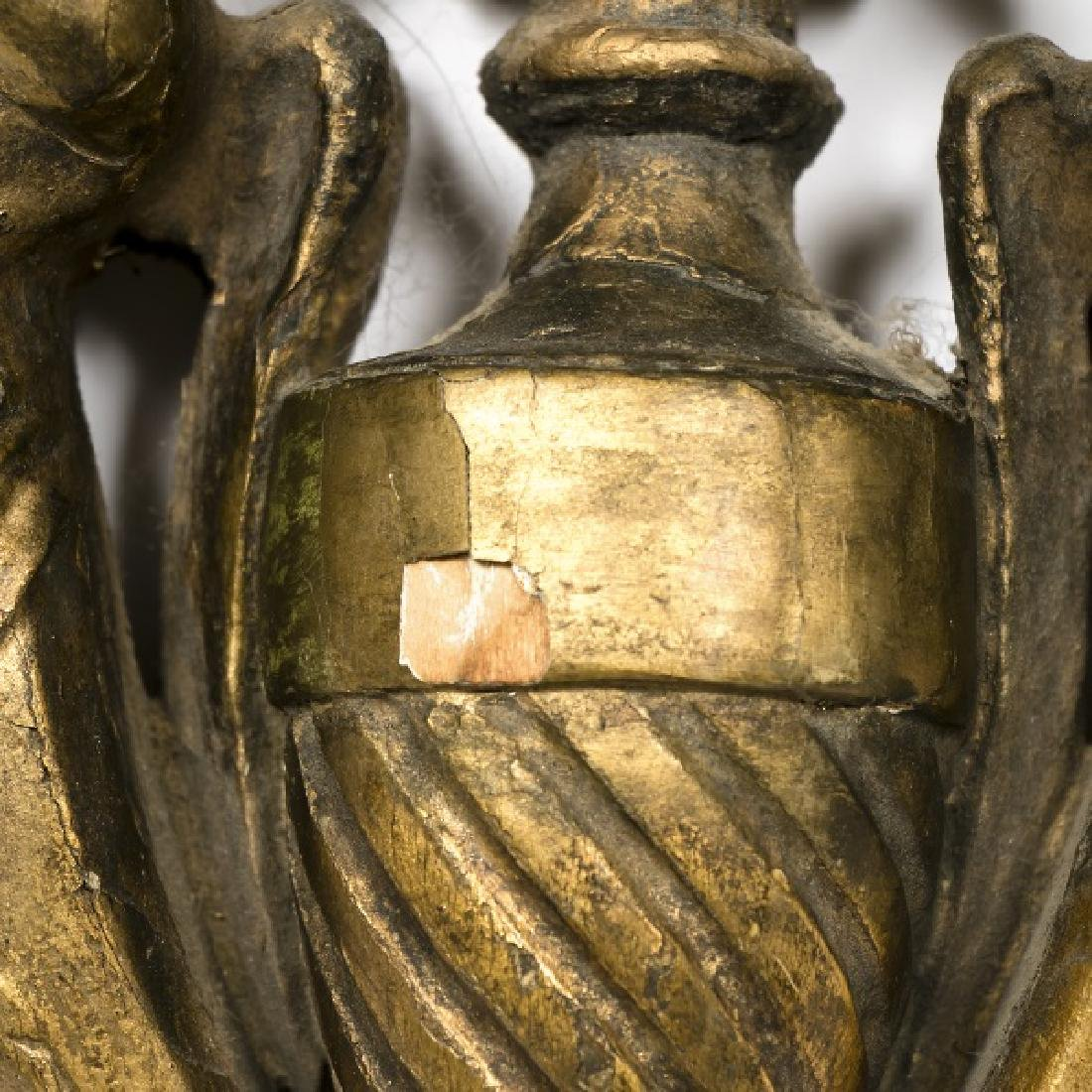 Pair, 19th C. French Carved Gilt Wood Wall Sconces - 5