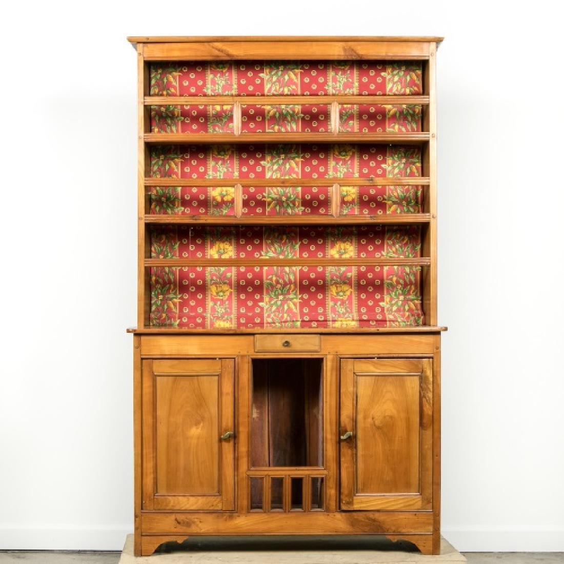 American 19th C. Oak China Cabinet / Hutch