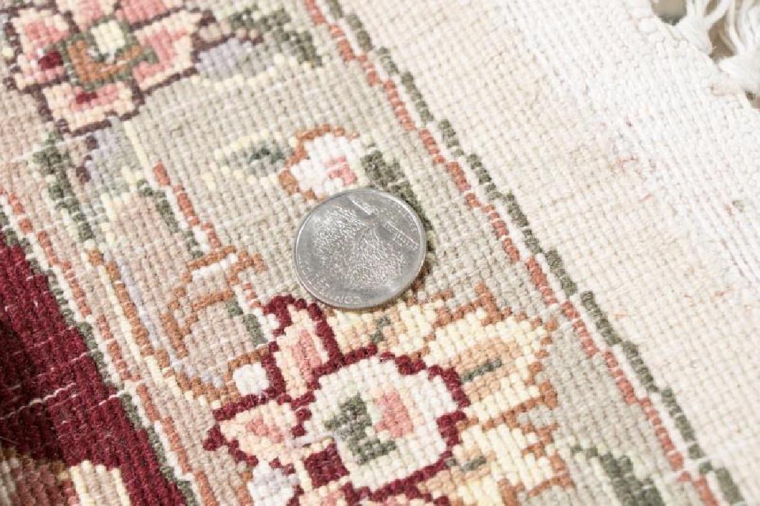 Hand Woven Indo-Tabriz Rug, 8' Round - 2